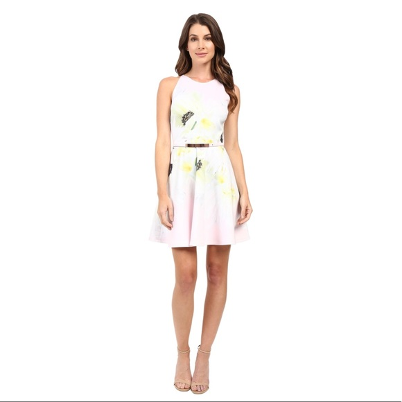 b5ce555f3 NWT Ted Baker Tuliaa Pearly Petal Skater Dress